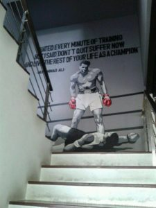 Mohammad Ali Daily gym mural